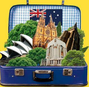 青岛去澳大利亚特价-霍希尔巷,悉尼水族馆,杜莎夫人蜡像馆,悉尼歌剧院,可伦宾野生动物园,皇家植物园7日游推荐q