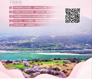 青岛到西藏旅游团  布达拉宫 大昭寺 巴松错 羊卓雍错 雅鲁藏布江大峡谷 鲁朗景区10日游m